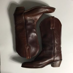 FRYE • Brown Leather Cowboy Boots
